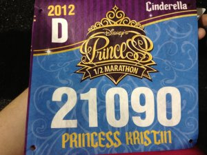 My very first running bib!